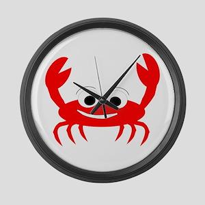 Crab Design Large Wall Clock