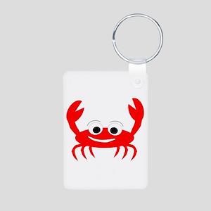 Crab Design Aluminum Photo Keychain