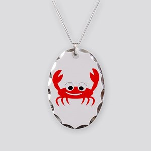 Crab Design Necklace Oval Charm