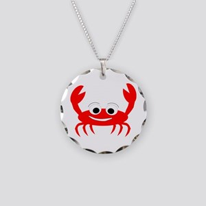 Crab Design Necklace Circle Charm