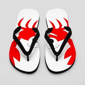 Crab Design Flip Flops