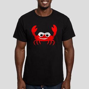 Crab Design Men's Fitted T-Shirt (dark)