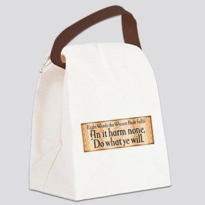 Wiccan Rede Canvas Lunch Bag