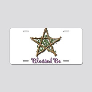 Blessed Be Aluminum License Plate