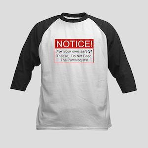 Notice / Pathologist Kids Baseball Jersey