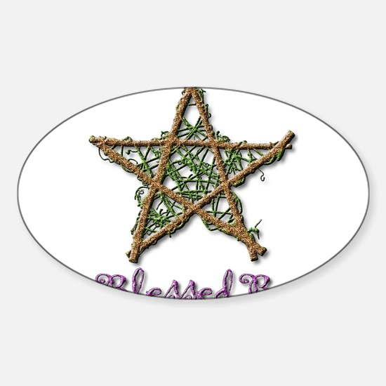 Blessed Be Sticker (Oval)