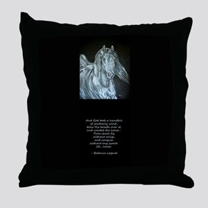 Legend of the Horse Throw Pillow
