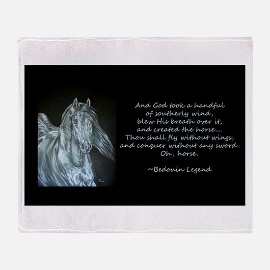 Legend of the Horse Throw Blanket