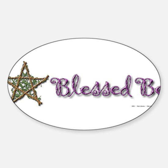 Blessed Be II Sticker (Oval)