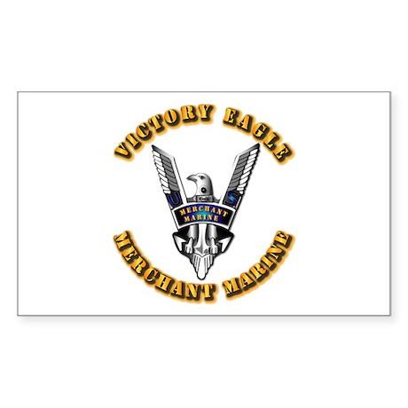 Army - Merchant Marine - Victory Eagle Sticker (Re