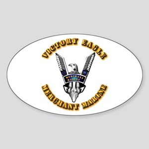 Army - Merchant Marine - Victory Eagle Sticker (Ov