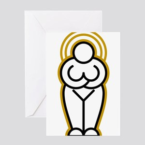 White Goddess Greeting Card