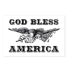 God Bless America Postcards (Package of 8)