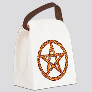 Pentacle of Fire Canvas Lunch Bag