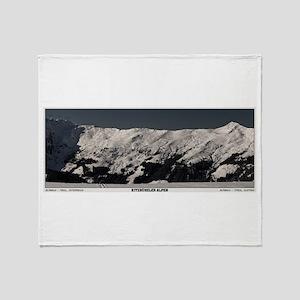 Alpbachtal Panoramic Throw Blanket