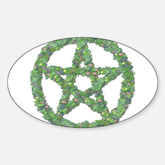 Leaf Pentacle Sticker (Oval)