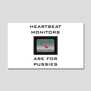 Heartbeat Monitors Car Magnet 20 x 12
