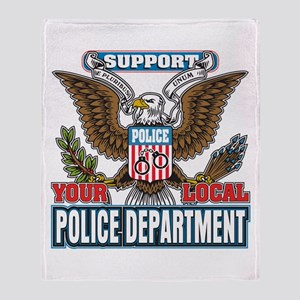 Support Your Local Police Throw Blanket