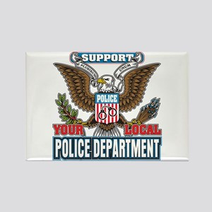 Support Your Local Police Rectangle Magnet