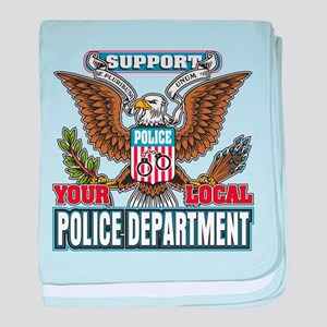 Support Your Local Police baby blanket