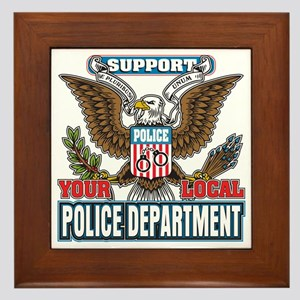 Support Your Local Police Framed Tile