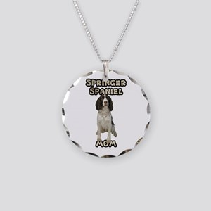 Springer Spaniel Mom Necklace Circle Charm