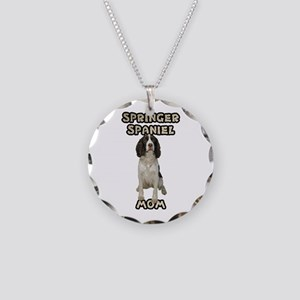 Springer Spaniel Mom Necklace Circle Charm