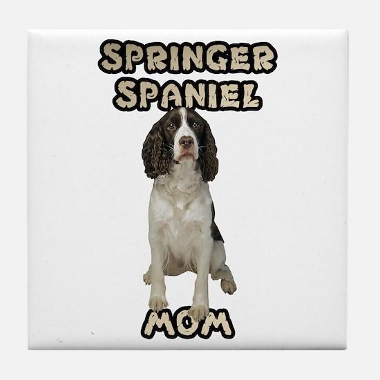 Springer Spaniel Mom Tile Coaster