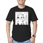 Looks Like Rain Men's Fitted T-Shirt (dark)