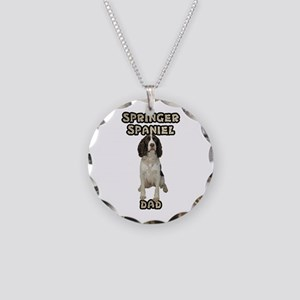Springer Spaniel Dad Necklace Circle Charm