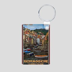 Riomaggiore Aluminum Photo Keychain
