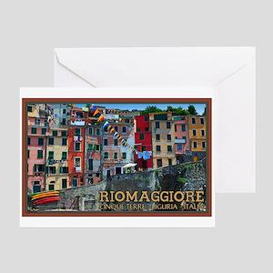 Riomaggiore Waterfront Greeting Card