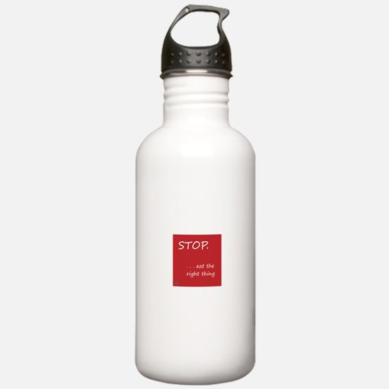 STOP.EAT RIGHT > Stainless water bottle (1.0L)