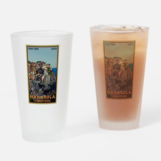 Manarola Town Drinking Glass