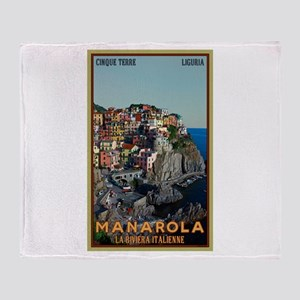 Manarola Town Throw Blanket