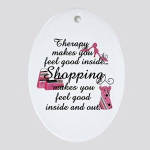 Retail Therapy Ornament (Oval)
