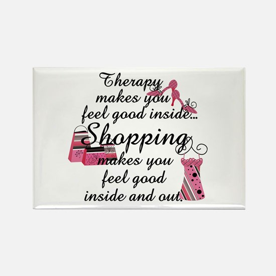 Retail Therapy Rectangle Magnet