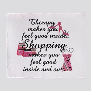 Retail Therapy Throw Blanket