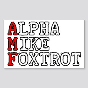 AMF Sticker (Rectangle)