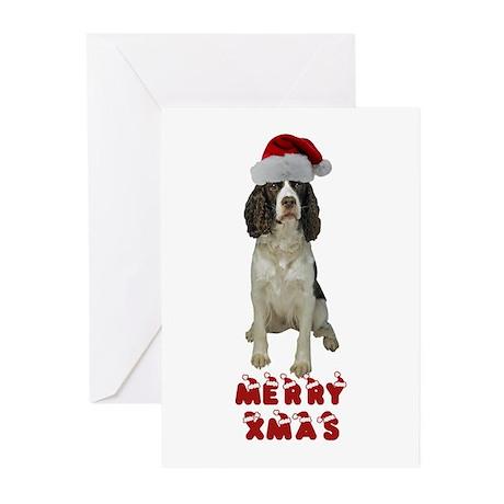 Springer Spaniel Christmas Greeting Cards (Pk of 1
