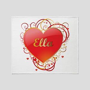 Ella Valentines Throw Blanket