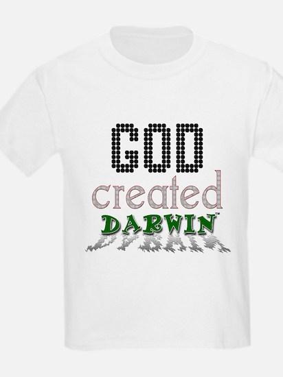 God Created Darwin Kids T-Shirt