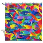 Cosmic Ribbons Shower Curtain