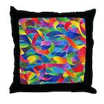 Cosmic Ribbons Throw Pillow