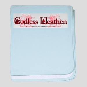 Godless Heathen baby blanket