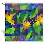 Leaf Mosaic Shower Curtain