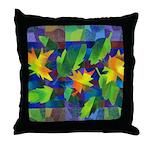 Leaf Mosaic Throw Pillow