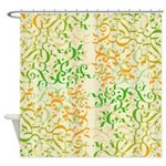 Abstract Arabic Shower Curtain