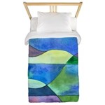 Jungle River Abstract Twin Duvet Cover