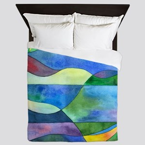 Jungle River Abstract Queen Duvet Cover